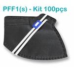 Respirador Descartável Tipo PFF1 (S) Preto - Caixa com 100 un.