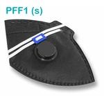 Respirador Descartável Tipo PFF1 (S) Preto Com Válvula - Kit com 10 un.