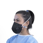 Respirador Descartável Tipo PFF2 (S) Preto com Válvula - Kit com 10 un.