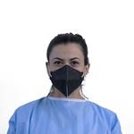 Respirador Descartável Tipo PFF2 (S) Preto - Caixa com 100 un.