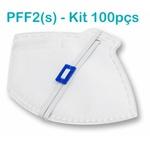 Respirador Descartável Tipo PFF2 (S) Branco - Caixa com 100 un.