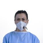 Respirador Descartável Tipo PFF2 (S) Branco Carvão Ativado - Kit com 10 un.