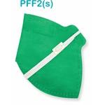 Respirador Descartável Tipo PFF2 (S) verde bandeira - Kit com 10 un
