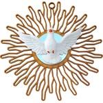 Divino Espirito Santo em MDF com Espelho 18 Cm Parede