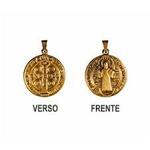 Medalha São Bento Ouro Velho Pequena 14mm