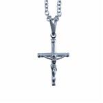 Corrente com Crucifixo Aço Inox Palito com Cristo