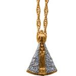 Gargantilha Folhado a Ouro Nossa Senhora Aparecida 14 Strass