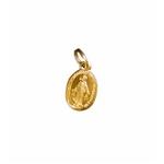 Medalha Milagrosa Dourada Pequena 10mm x 7mm