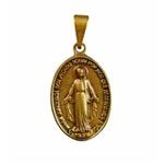 Medalha Milagrosa Ouro Velho 16x27 MM Média