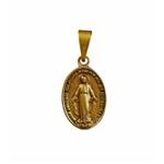 Medalha Milagrosa Ouro Velho 14x23 mm Pequena