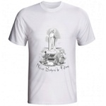 Camiseta Nossa Senhora de Fátima com pastores Preto e Branco
