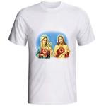 Camiseta Sagrado Coração de Jesus e Maria