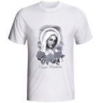Camiseta Nossa Senhora Rosa Mística Preto e Branco com Glíter