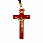 Cordão com Cruz de Madeira Grande