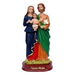 Imagem da Sagrada Familia 15cm Resina Nacional