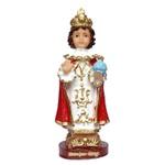 Imagem do Menino Jesus de Praga 15cm Resina Nacional