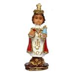 Imagem do Menino Jesus de Praga 7cm Resina Nacional