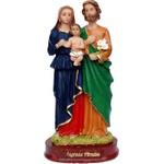 Imagem da Sagrada Família de Resina 20cm