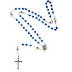 Terço Cristal 5 MM Com Santo no Pai Nosso Importado Nossa Senhora Aparecida