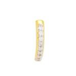 Brinco Piercing de Pressão Ear Hook Semijoia Banho de Ouro 18K Cravejado com Zircônias Detalhe em Ródio