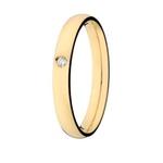 Aliança Lisa em Ouro 18k com 2,8 mm de Largura Anatômica Com Pedra Diamante