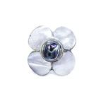 Anel Flor de Madrepérola Prata 925
