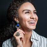 Brinco Ultimate Raquel Schiavon Semijoia Banho de Ródio Pedra Natural Jade Verde Acabamento em Zircônias