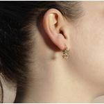 Brinco Argola Pequenas Estrelas Semijoia Banho De Ouro 18k