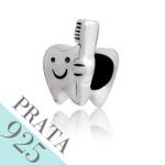 Pingente Dente com Escova Memories Prata 925