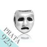 Pingente Máscara de Teatro Memories Prata 925