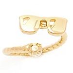 Anel Falange Óculos Semijoia Banho de Ouro 18k