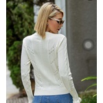 Blusa Tricot Babados Off White
