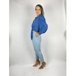 Calça Linho Azul Claro