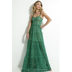 Vestido Longo Renda Verde