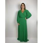 Vestido Manga Longa Verde