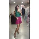 Shorts Evasê Pink