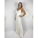 Vestido com Alça Madeira Off White