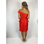 Vestido Curto Zibeline De Seda Vermelho