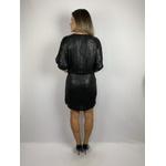 Vestido Paetê Fosco Preto