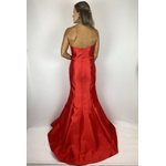 Vestido Zibeline de Seda Vermelho