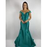 Vestido Zibeline Laço Verde