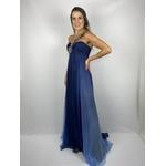 Vestido Seda Azul Marinho