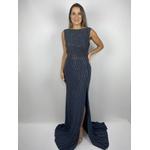 Vestido Decote Azul
