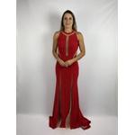 Vestido Recortes Vermelho