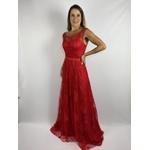 Vestido Rendado Vermelho