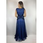 Vestido Evase Azul