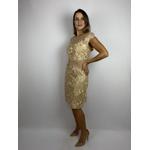 Vestido Nude Golden Dourado