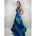 Vestido Zibeline Bicolor Bicolor