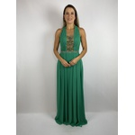 Vestido Decote Profundo Verde