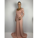 Vestido Longo Guipir Rose